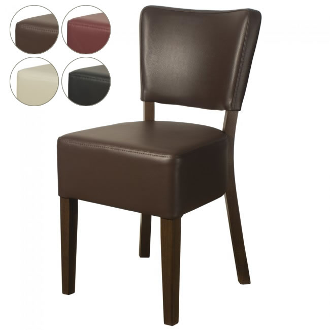 belmont faux leather side chair