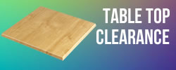table top clearance