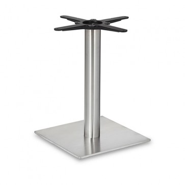 Fleet - Lounge Height Square Small Table Base (Round Column)