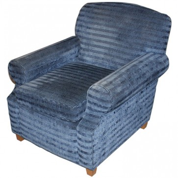 Blue Striped Upholstery Tub Chair