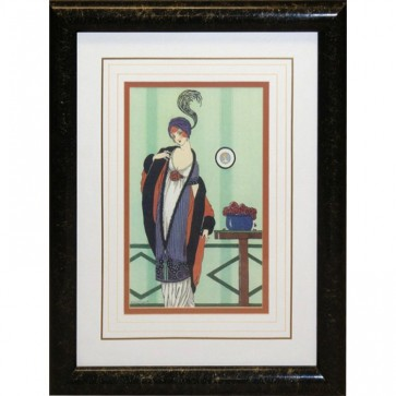 Black & Gold Framed Woman Picture