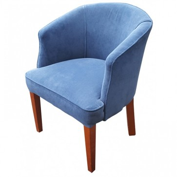 Blue Suede Effect Tub Chairs