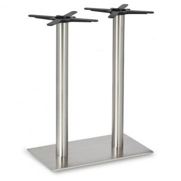 Fleet - Mid Height Rectangle Twin Table Base (Round Column)