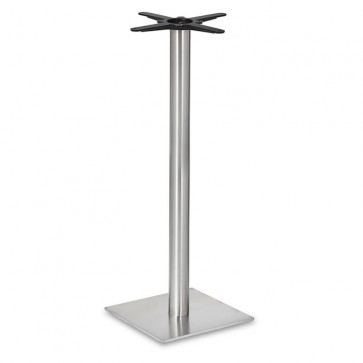 Fleet - Poseur Height Square Small Table Base (Round Column)