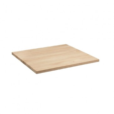 RAW Solid Ash Table Top 25mm Thick - 60cm Square