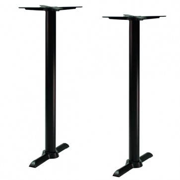 Black Samson B4 Poseur Height Table Base Twin