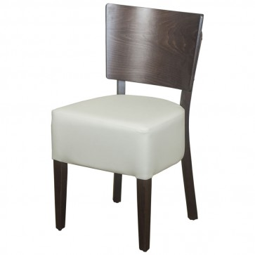 Belmont Cream Faux Leather Veneer Back Side Chair