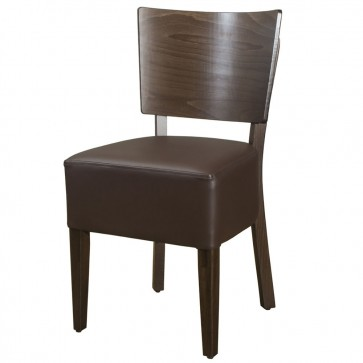 Belmont Brown Faux Leather Veneer Back Side Chair