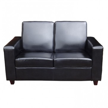 Black 2 Seater Sofa Front View