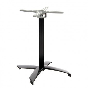 Newquay Black Aluminium Outdoor Flip Top Table Base