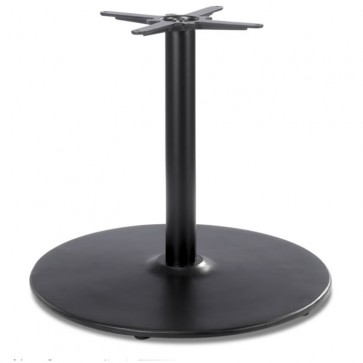 Black Dome Large Lounge Height Table Base