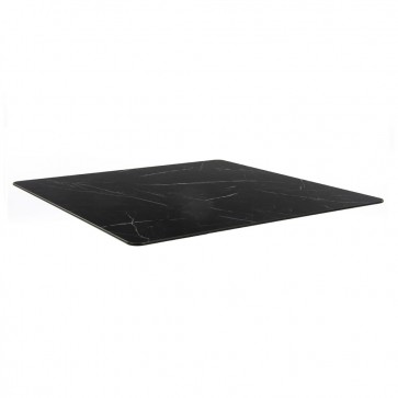 Black Marble Compact Laminate Table Top 10mm Thick