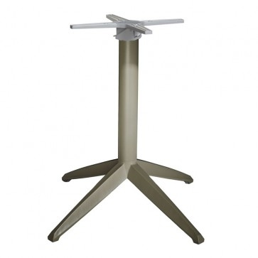 Braga Taupe Flip Top Dining Height Table Base - Outdoor