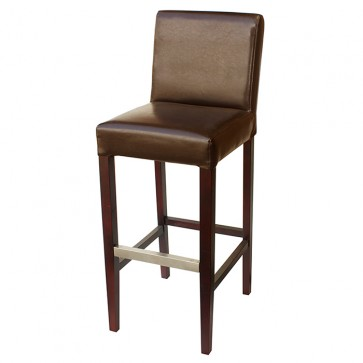 Brown Covent Bar Stool With Back
