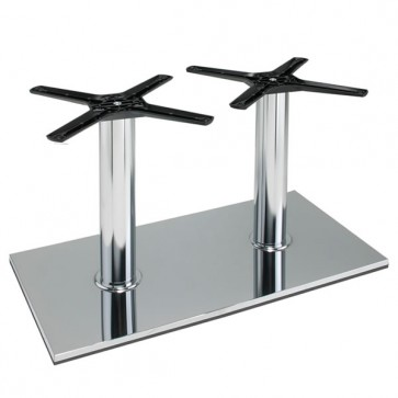 Italia Rectangle Chrome Coffee Height Table Base