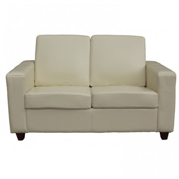 Cream 2 Seater Sofa Front View