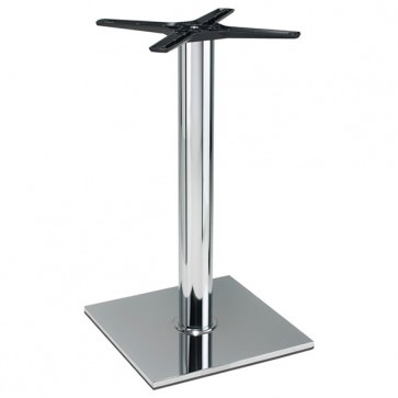 Italia Square Chrome Dining Height Table Base