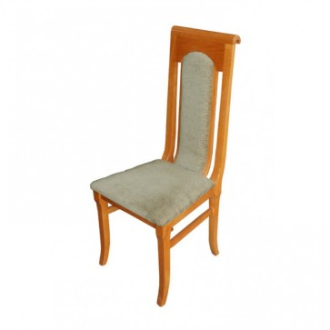 Beige Upholstered Highback Chair