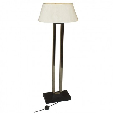 Chrome & Black Tall Standing Lamps