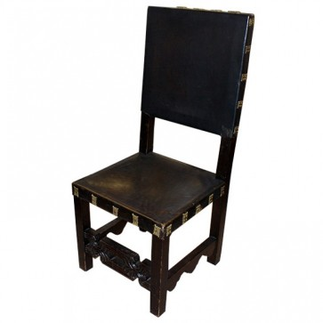 Antique Darkwood and Gold Chairs