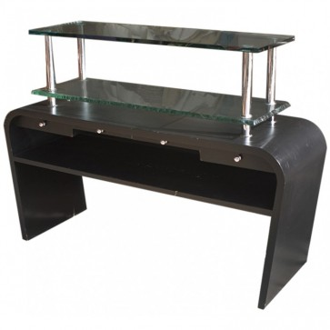 Black & Glass Unit With Drawers