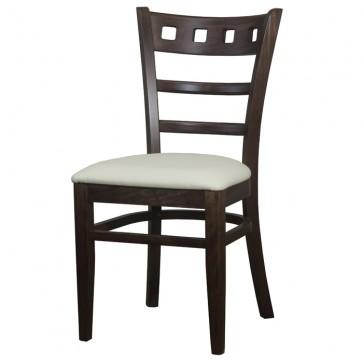 Enzo Side Chair Walnut / Cream