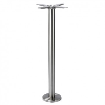 Poseur Height Brushed Stainless Steel Floorfix Table Base