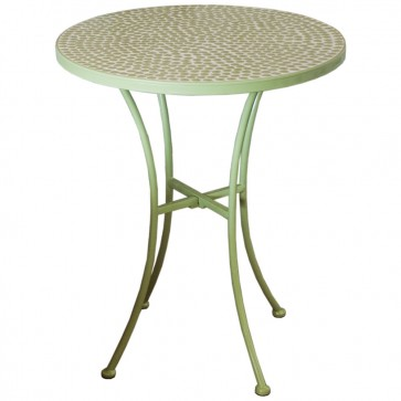 Outdoor Green Round Table
