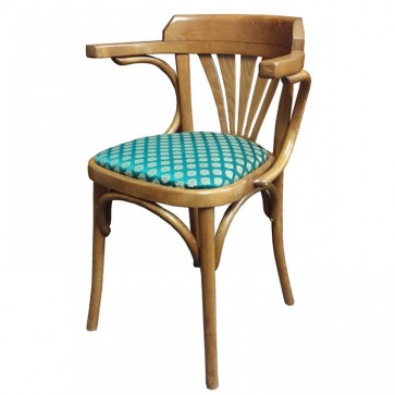Premium Solid Wood Upholstered Armchair