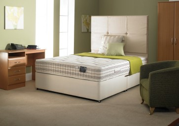 "4FT6"" Double 13.5G Open Coil Mattress & Base Standard"