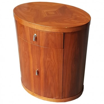 Used Oval Bedside Table Single Draw