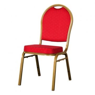 Burgundy Round Back Steel Banqueting Chair