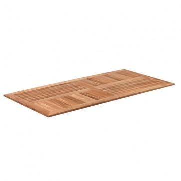 Solid Teak Table Top 140cm x 70cm Rectangle