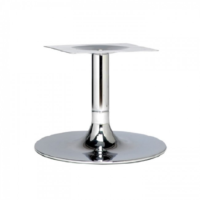 Coffee Height Round Small Table Base Round Column: Trumpet Small Coffee Height Table Base