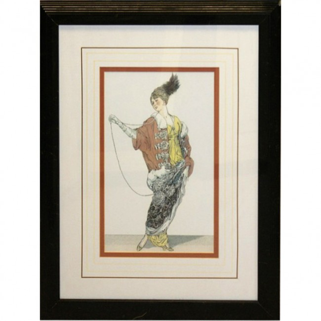 Black Gold Framed Woman Picture