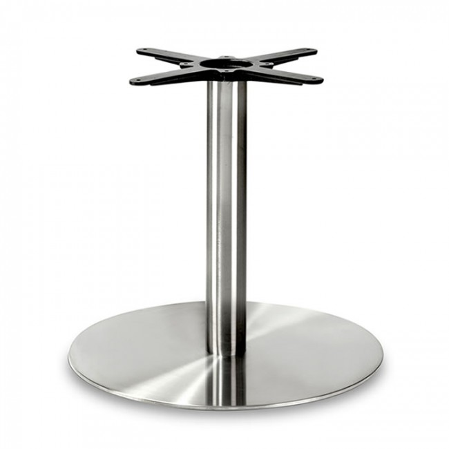 Round Stainless Base Coffee Height Tables: Lounge Height Round Small Table Base (Round Column