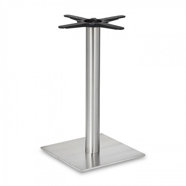 Coffee Height Square Small Table Base Round: Dining Height Square Small Table Base (Round Column