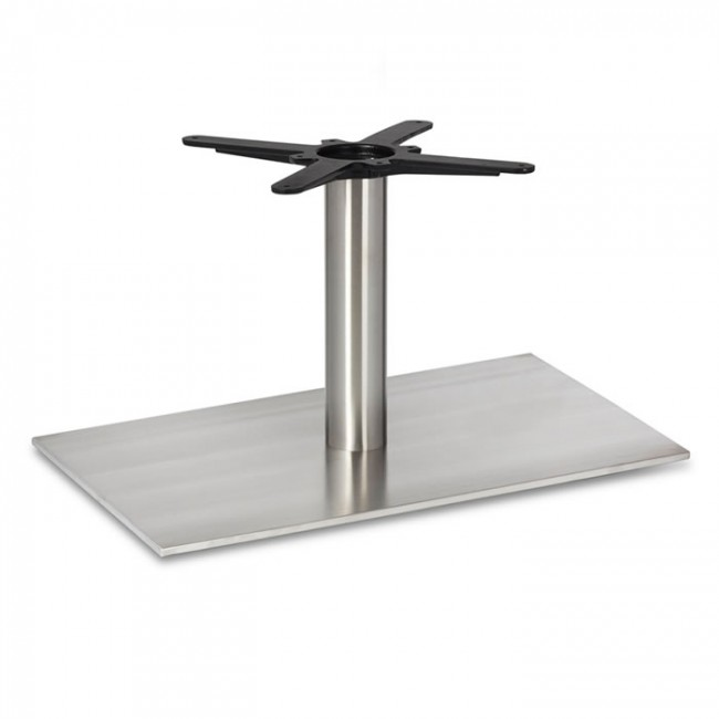 Fleet coffee height rectangle table base round column
