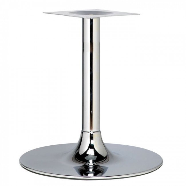 Coffee Height Round Large Table Base Round Column: Trumpet Large Lounge Height Table Base