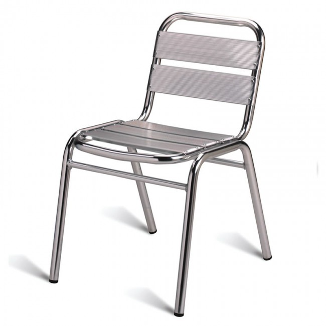 Outdoor Aluminium Side Chair Stackable