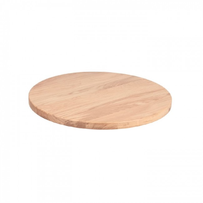 Raw Solid Ash Table Top 28mm Thick 60cm Round