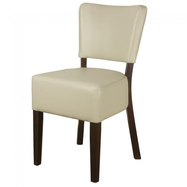 Remarkable Belmont Cream Faux Leather Restaurant Chairs Evergreenethics Interior Chair Design Evergreenethicsorg