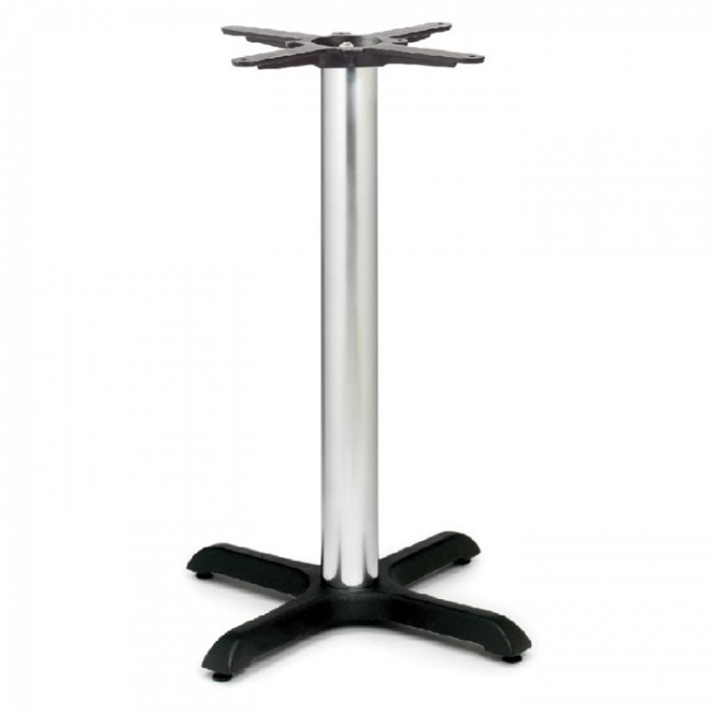 samson b1 chrome column table base dining height small. Black Bedroom Furniture Sets. Home Design Ideas