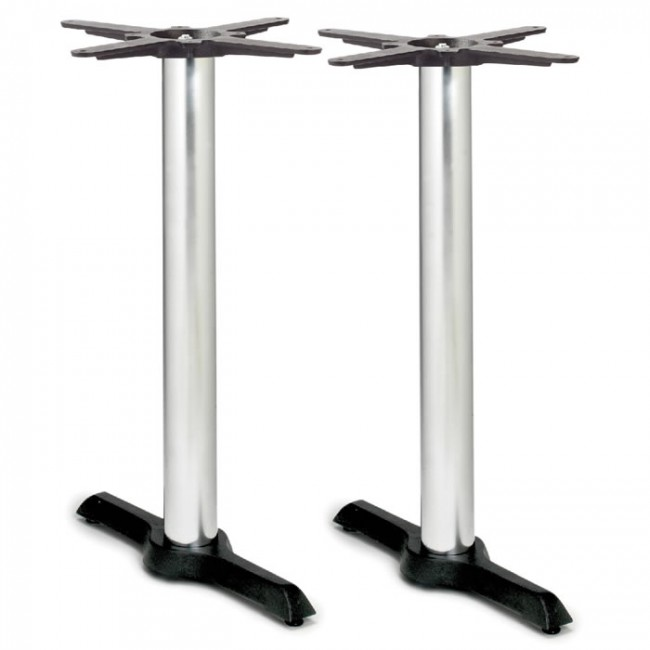 samson b4 chrome column table base dining height twin. Black Bedroom Furniture Sets. Home Design Ideas