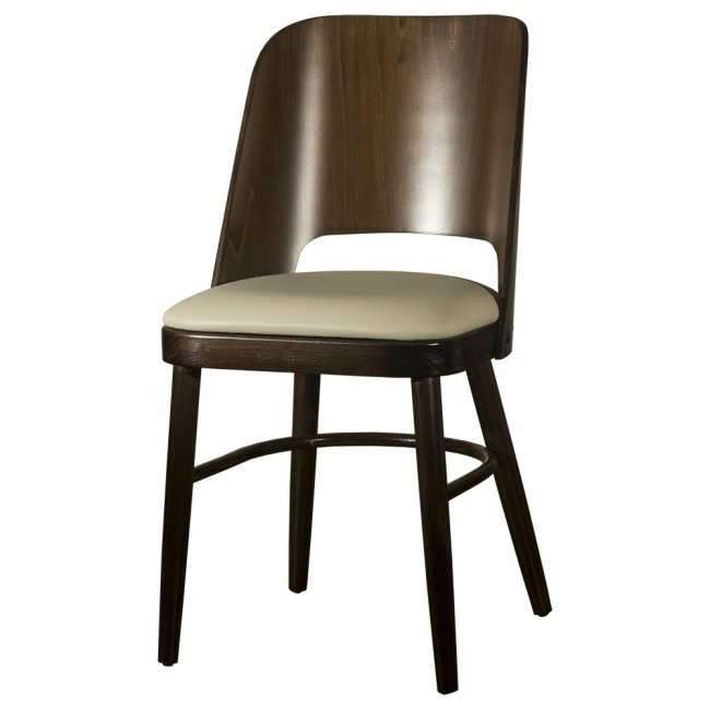Java Side Chair   Cream Faux Leather