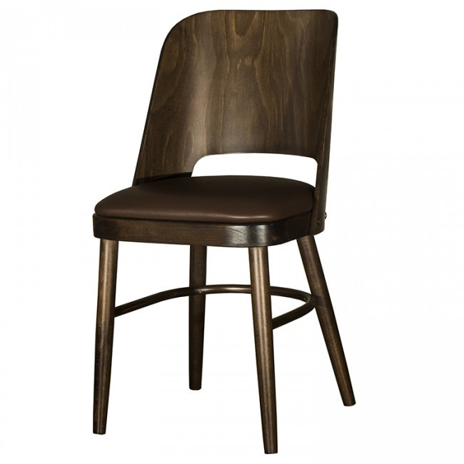 Fabulous Java Brown Faux Leather Restaurant Chairs Evergreenethics Interior Chair Design Evergreenethicsorg