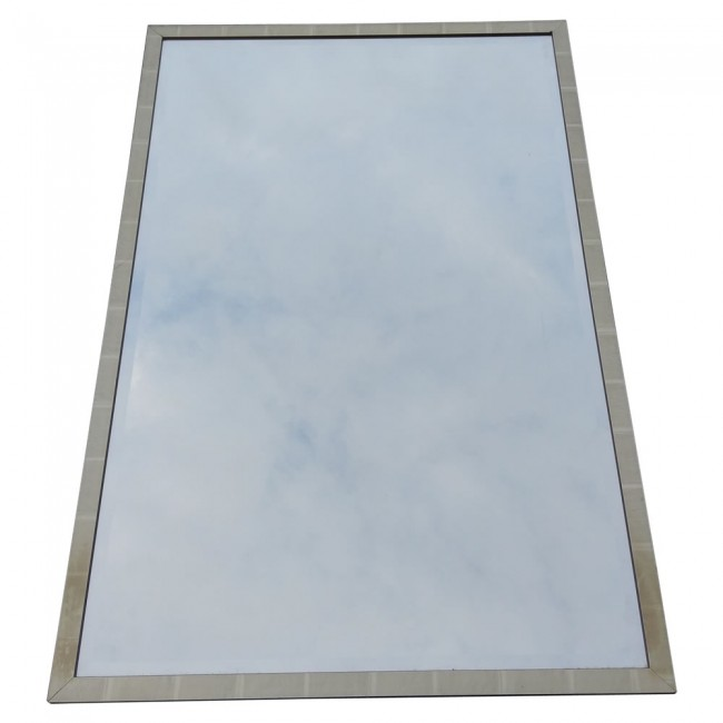 Used decorative rectangle silver framed mirrors for Silver framed mirror