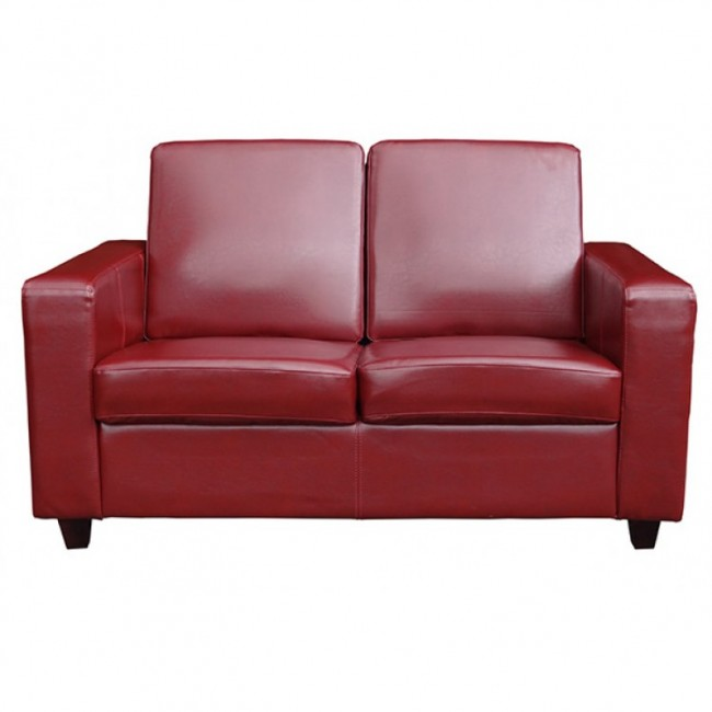 Dreipunkt Designer Leather Sofa Mustard Yellow Two Seat: Wine Covent 2 Seater Sofa