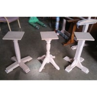 Three RAW Solid Wood Table Bases