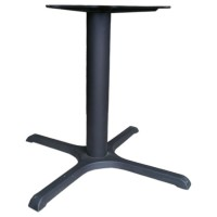 Large black dining height table base